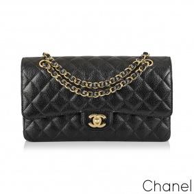Chanel Black Caviar Medium Classic Double Flap Bag